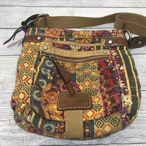 Fossil Adjust Cross-Body Bag Floral Paisley (0394)
